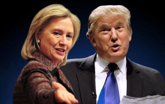 Клинтон уверенно опережает Трампа впрезидентской гонке