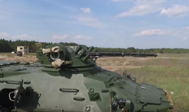 Появилось эффектное видео сиспытаниями новых украинских БТР