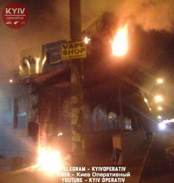 Пожар произошел на станции скоростного трамвая в столице