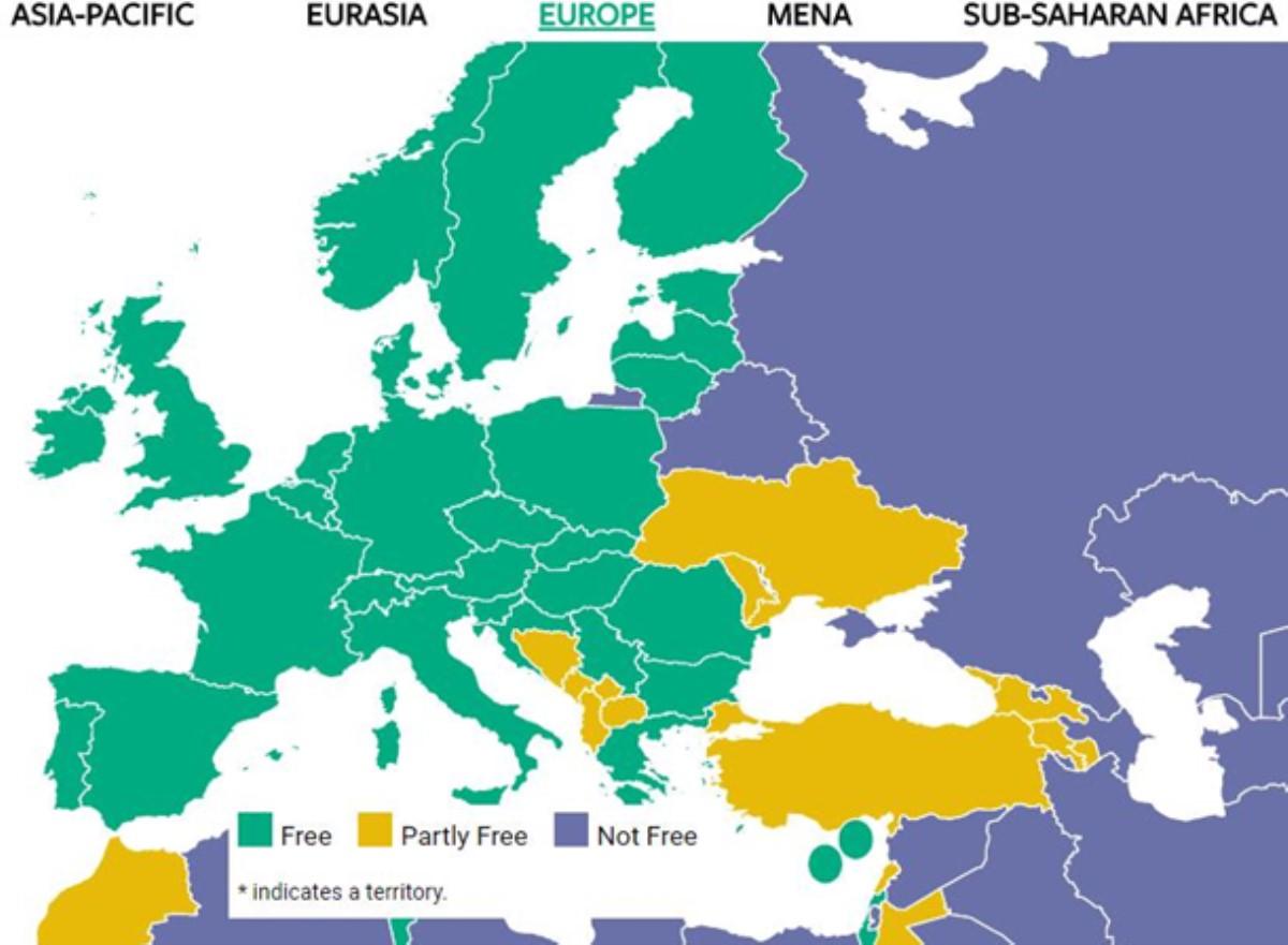 Freedom House всвоем докладе представила Крым территорией РФ