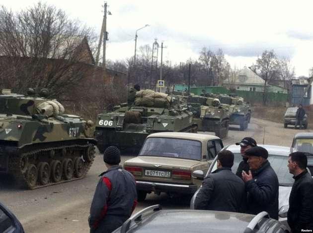 ВРФ зафиксировано невиданное доныне перемещение военной техники всторону государства Украины