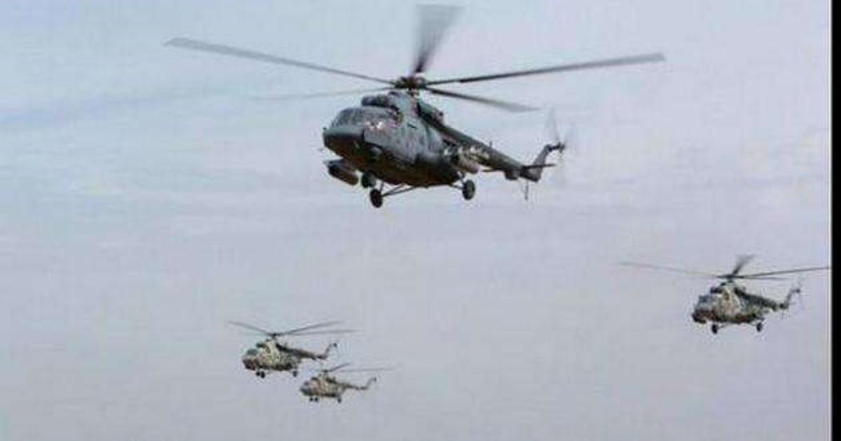 Военный вертолет из РФ пролетел над Украинским государством