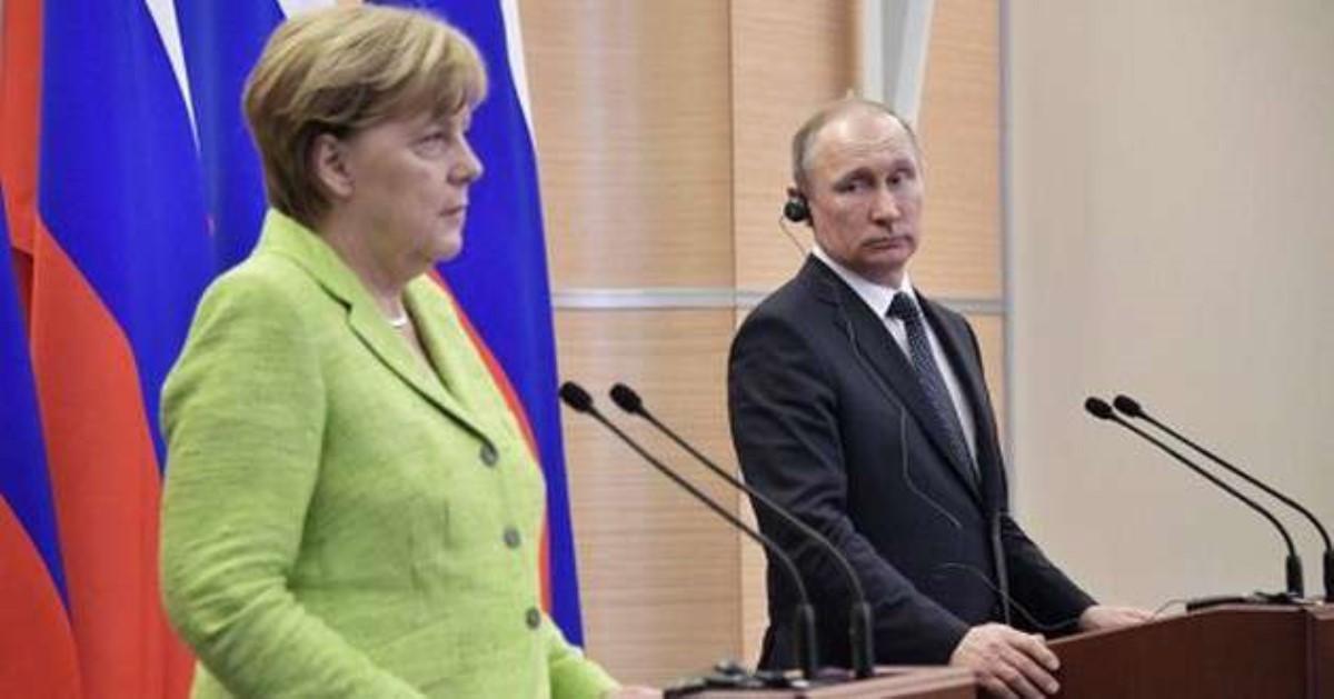 Меркель назвала интересным предложение В.Путина омиротворцах вДонбассе