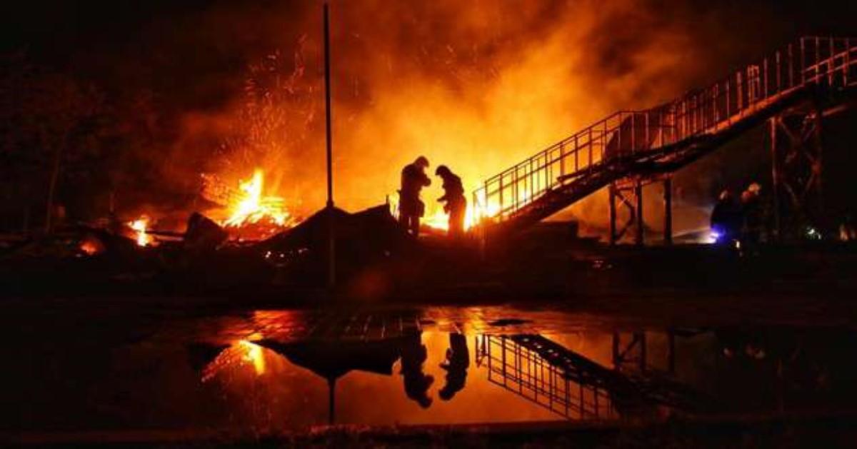 Систему пожаротушения в«Виктории» смонтировали, однако неподключили— ГСЧС