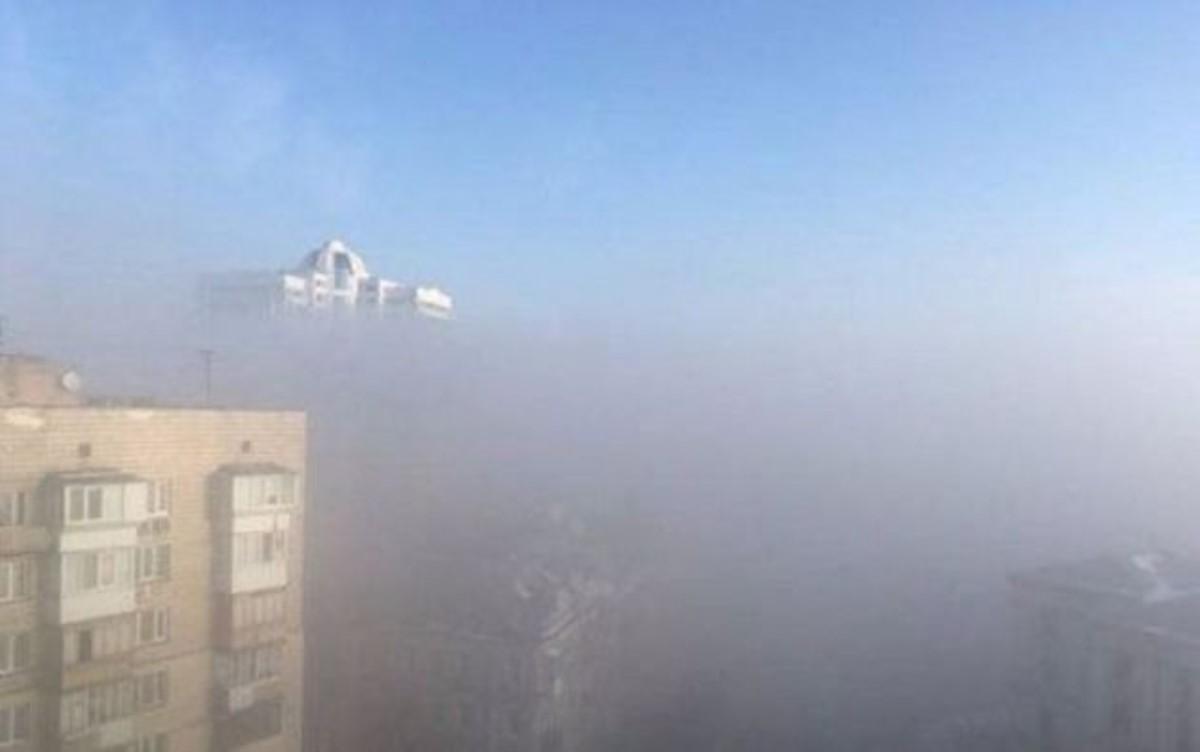 Граждан украинской столицы шокировал запах гари изагадочная метеорологическая дымка