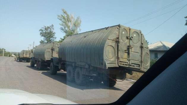 ОБСЕ зафиксировала три колонны военной техники вблизи Луганска
