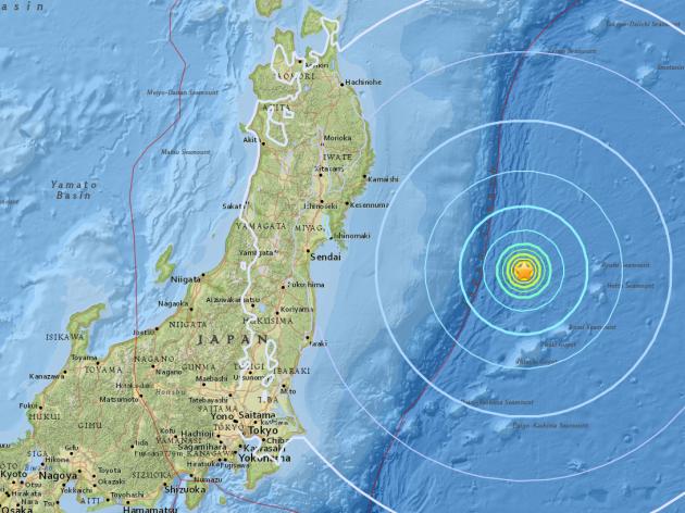 Уберегов Японии случилось два землетрясения— Разгул стихии