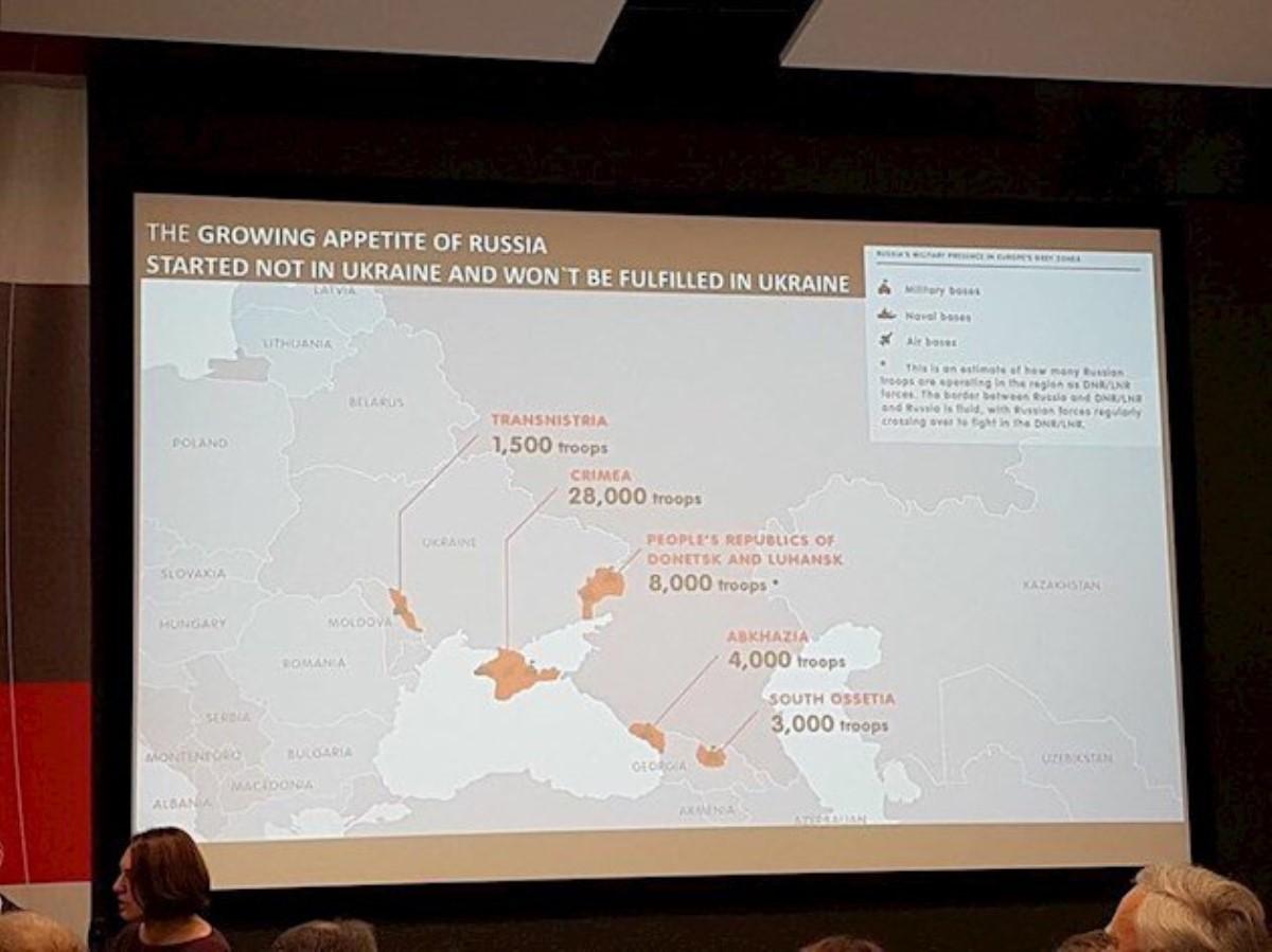 Англоязычная карта сДНР иЛНР спровоцировала скандал на пленуме воЛьвове
