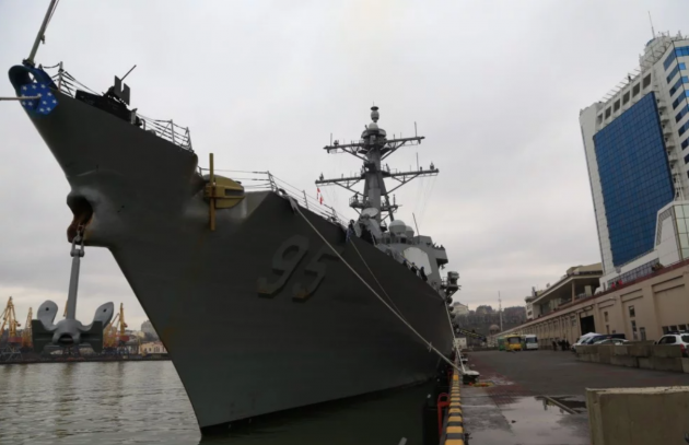 Водесский порт зашел американский эсминец— Грозный гость