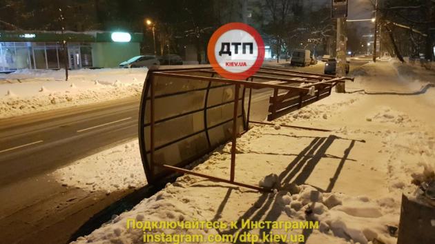 ВКиеве упала остановка публичного транспорта