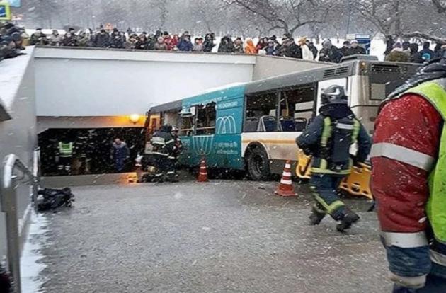 5 человек погибло при выезде автобуса натротуар в столицеРФ