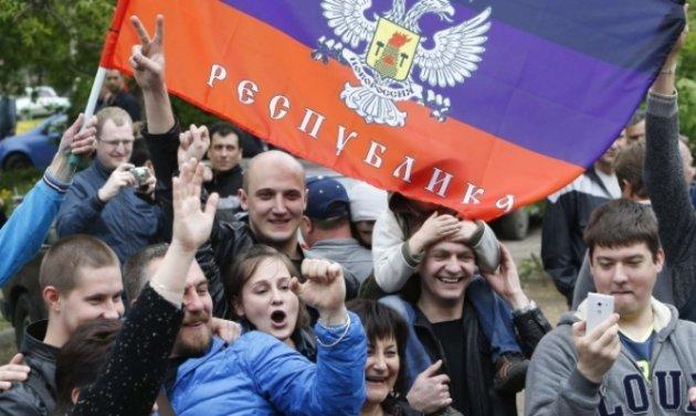 День Соборности Украины: в захваченный Луганск «полетел» украинский флаг