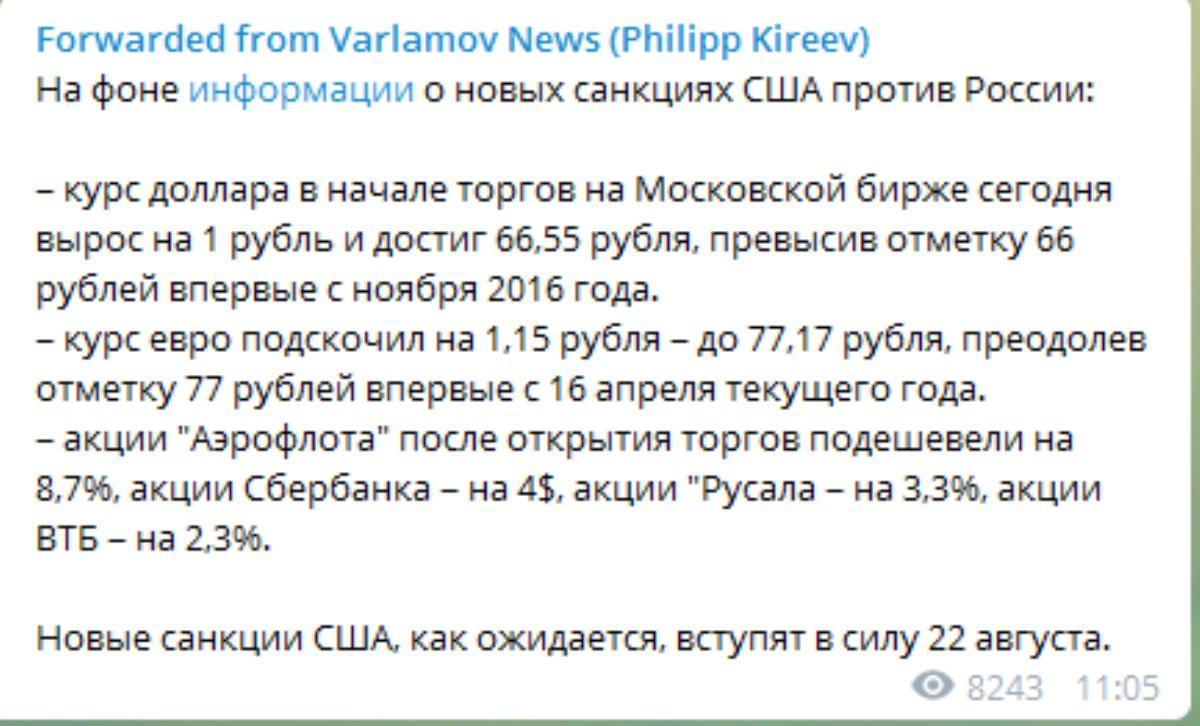 Черный день: в РФ рухнул финансовый рынок