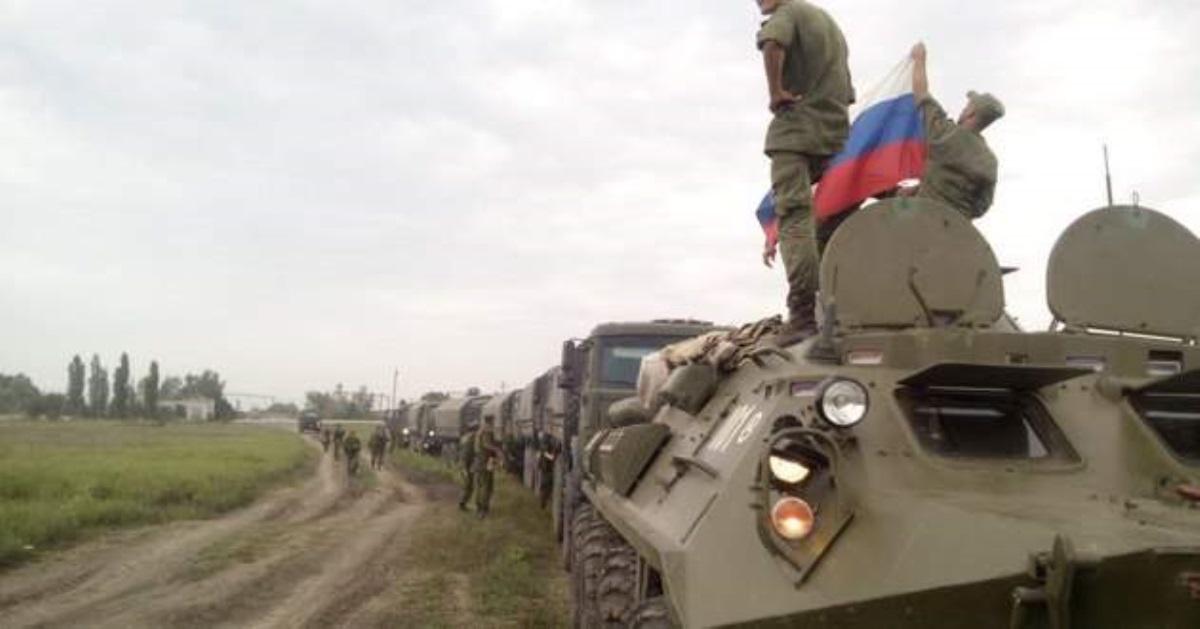 ОБСЕ: Колонна русских военных пересекла границу с государством Украина
