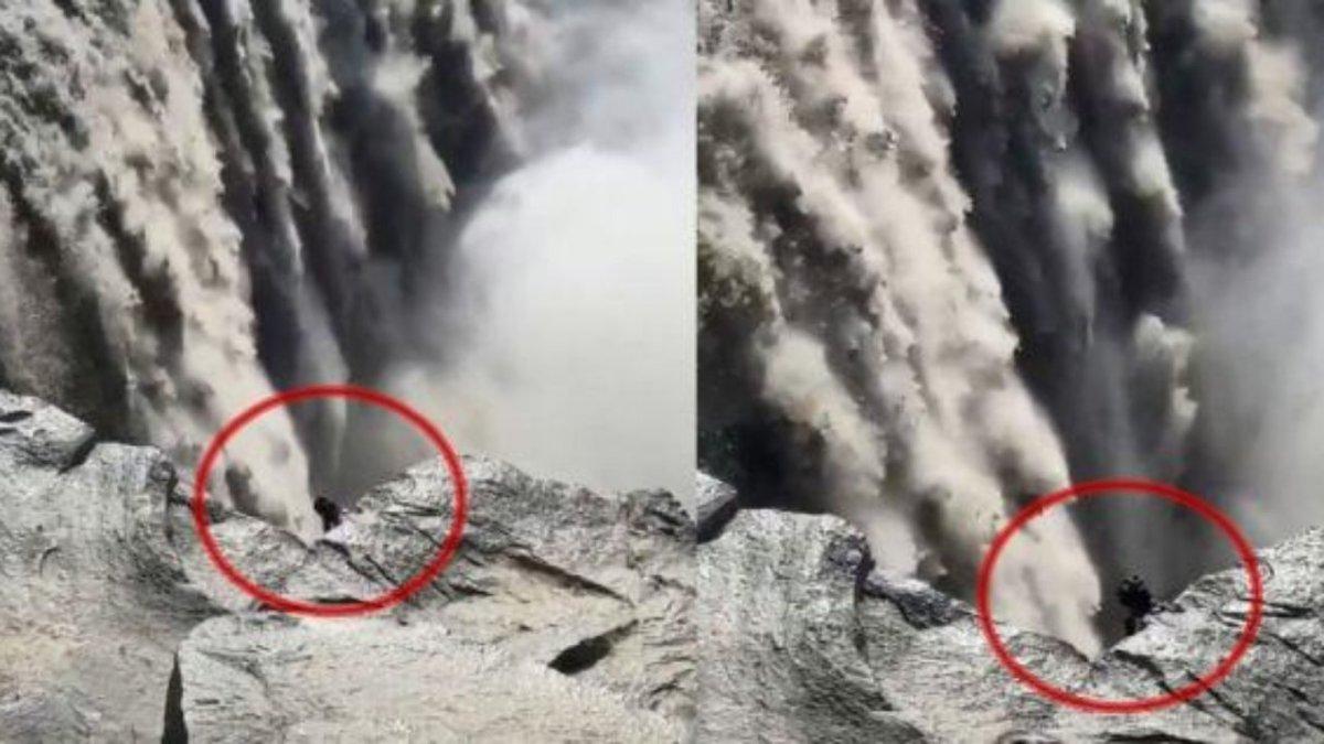 В Исландии у водопада видели жуткое создание