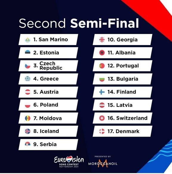Евровидения-2021, второй полуфинал
